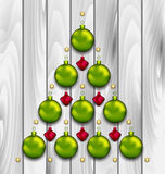 Abstract Tree Made of Christmas Balls Royalty Free Stock Photos