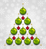 Abstract tree made of Christmas taditional elements Royalty Free Stock Photography