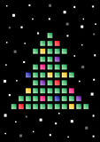 Abstract tree made of colored squares Royalty Free Stock Photography