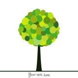 Abstract tree made of green circles Royalty Free Stock Photo