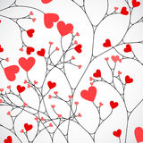Abstract tree made with hearts. Vector Royalty Free Stock Photos