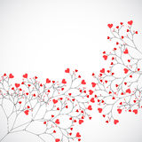 Abstract tree made with hearts. Vector Stock Photo