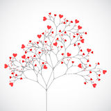 Abstract tree made with hearts. Vector Stock Photos