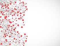 Abstract tree made with hearts. Vector Royalty Free Stock Photo