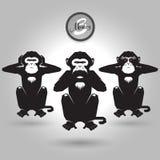 Abstract tree monkeys Royalty Free Stock Image