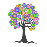 abstract tree. With abstract multicolored foliage, hand drawing Stock Photography