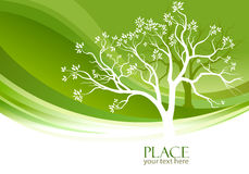 Abstract Tree in olive-green background royalty free illustration