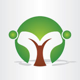 Abstract tree people design. Vector sign of abstract tree royalty free illustration
