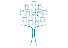 Abstract tree from photo frames Royalty Free Stock Photo