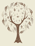 Abstract tree retro. With sepia tone effect Royalty Free Stock Photo
