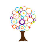 Abstract tree with rings royalty free illustration