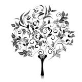 Abstract tree romantic fancy Royalty Free Stock Photo