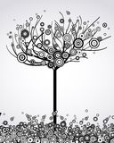 Abstract tree with round leaves. Vector Royalty Free Stock Photo