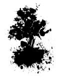 Abstract tree silhouette Royalty Free Stock Photography