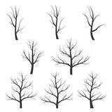 Abstract tree silhouette Stock Images