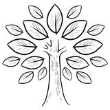 Abstract tree sketch Royalty Free Stock Image