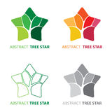 Abstract tree star symbol Stock Photo