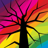 Abstract tree vector on colourful background Royalty Free Stock Photos