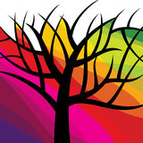 Abstract tree vector on colourful background Stock Photos