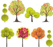 Abstract tree. Vector illustration. Abstract background with green tree. Vector illustration stock illustration