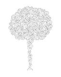 Abstract tree  vector illustration. Ecology  landscape black vector illustration