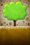 Abstract tree with vintage texture. Abstract tree with paper texture, ideal for cards or posters Stock Photo