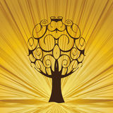 Abstract tree  whit rays. Royalty Free Stock Photography