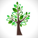 Abstract tree on white background Stock Photography