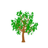 Abstract tree.  on white background. Vector illustration. Flat style Royalty Free Stock Photography