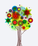 Abstract Tree With Flowers Stock Photography