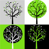 Abstract trees. Pattern, vector file Stock Photo