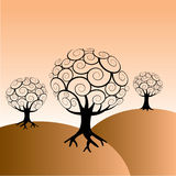 Abstract Trees Background Royalty Free Stock Images
