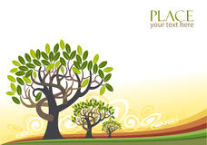 Abstract Trees Background - Stylized Royalty Free Stock Photo