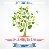 Abstract trees for Biodiversity international day. Illustration of Abstract trees for Biodiversity international day Stock Photos