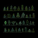 Abstract trees collection. Vector illustration vector illustration