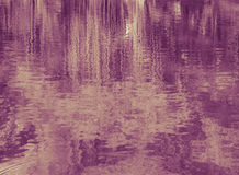 Abstract trees reflection on water surface Royalty Free Stock Photos