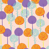 Abstract Trees Seamless Pattern Stock Photo