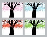 Abstract trees set Stock Photography