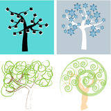 Abstract trees Stock Photography