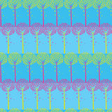 Abstract Trees And Strips Seamless Pattern Royalty Free Stock Image