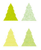 Abstract trees with triangle on the top Stock Images