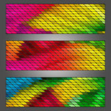 Abstract trendy banner with geometric shape. Stock Image
