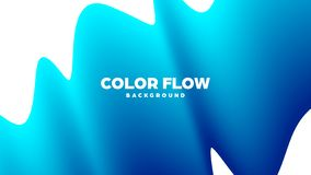 Abstract trendy geometric background with liquid gradient. Colorful dynamic curve wave. Modern motion banner. Vector. Illustration vector illustration