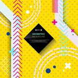 Abstract of trendy hipster modern geometric on yellow background. Illustration vector eps10 royalty free illustration