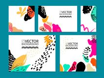 Abstract trendy illustration background, placard, floral stylized cactus succulent plant, style flat and 3d design elements. Uniqu. E art for covers, banners Royalty Free Stock Photos