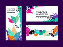 Abstract trendy illustration background, placard, floral stylized cactus succulent plant, style flat and 3d design elements. Uniqu. E art for covers, banners Royalty Free Stock Image