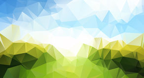 Abstract  trendy multicolored summer triangular pa Stock Photography