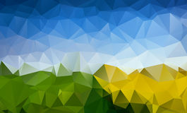 Abstract  trendy multicolored summer triangular pa Stock Images