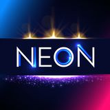 Abstract Trendy Shining Neon Banner. Colorful Cover and Poster Pemplate. Vector illustration Stock Photos
