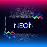 Abstract Trendy Shining Neon Banner. Colorful Cover and Poster Pemplate. Vector illustration Stock Image